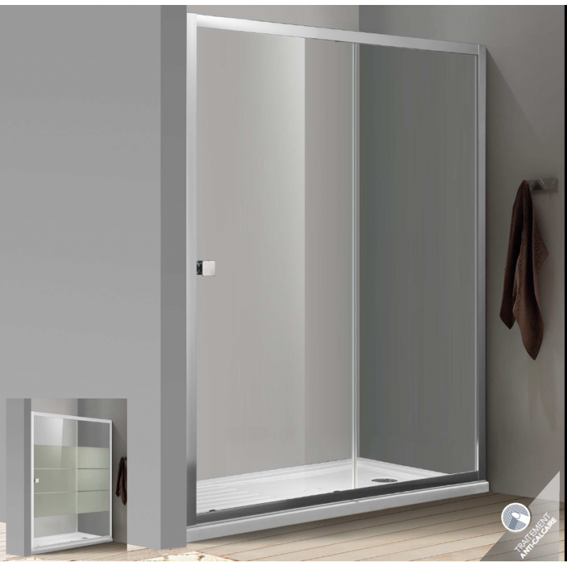 paroi de douche bellagio avec porte coulissante robinet co. Black Bedroom Furniture Sets. Home Design Ideas