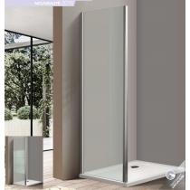 Paroi de douche d'angle BELLAGIO avec porte coulissante + fixe latérale