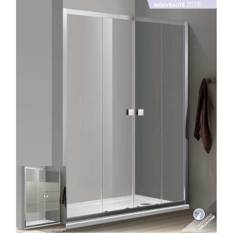 paroi de douche d 39 angle bellagio avec porte double. Black Bedroom Furniture Sets. Home Design Ideas