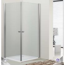 Paroi de douche VENUS double porte pivotante