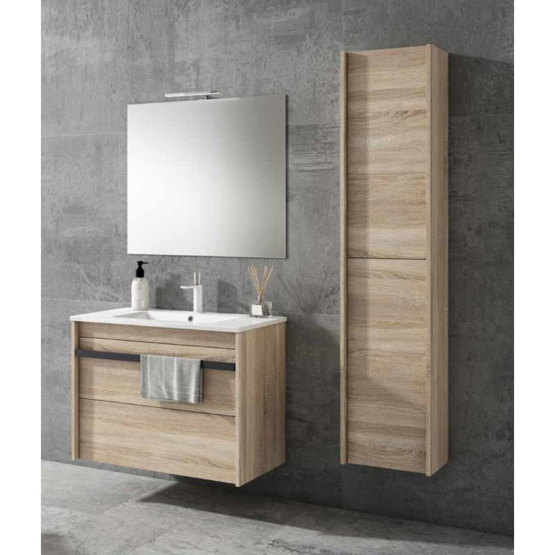 Meuble salle de bain suspendu tonga 2 tiroirs robinet and for Meuble tiroir suspendu