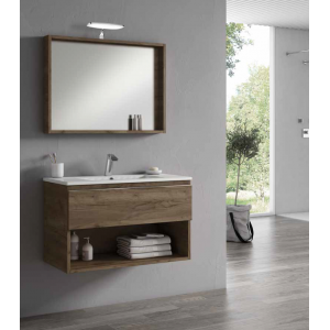 meuble sous vasque suspendu goa avec 1 tiroir vente meuble suspendu robinet and co. Black Bedroom Furniture Sets. Home Design Ideas