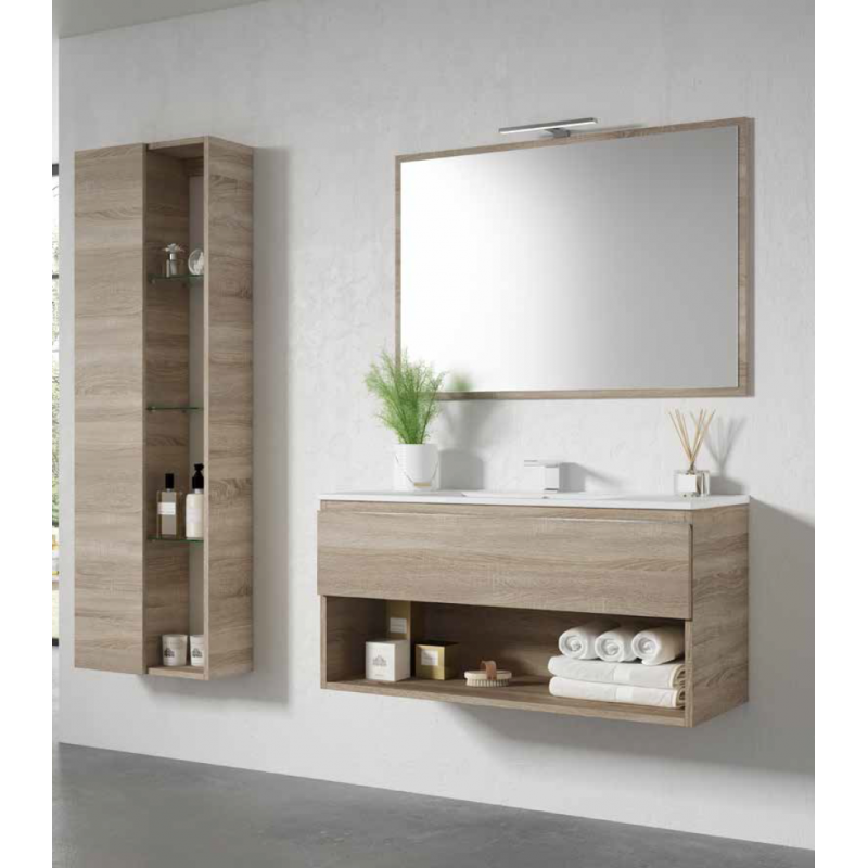 meuble sous vasque suspendu goa avec 1 tiroir robinet co. Black Bedroom Furniture Sets. Home Design Ideas