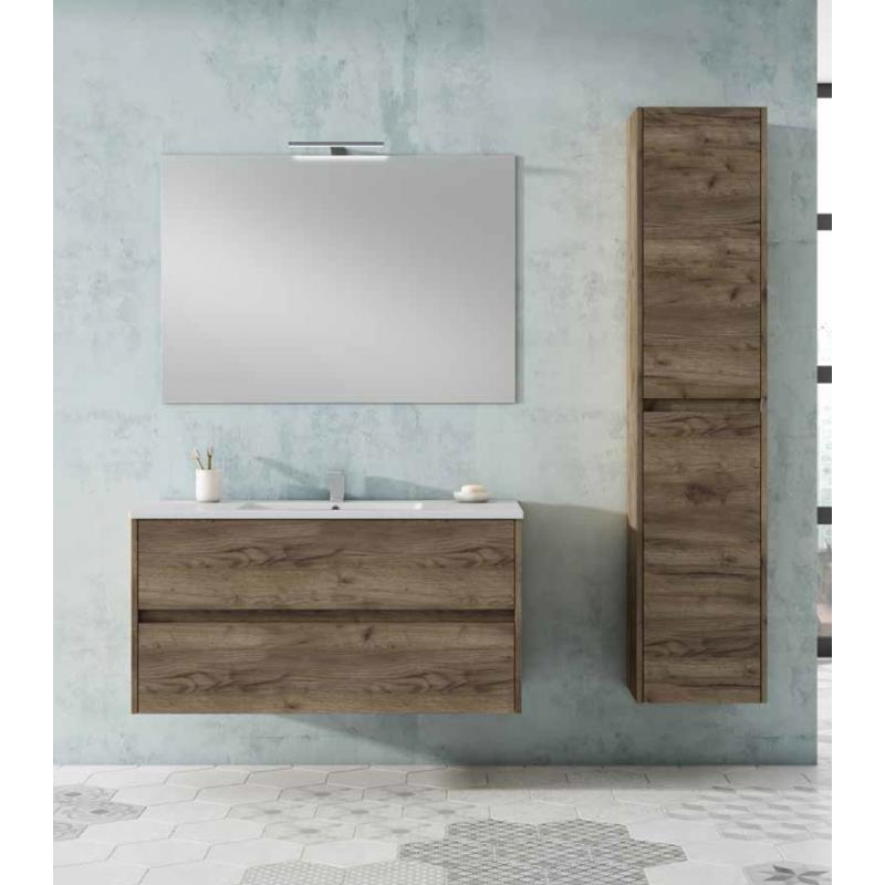 Meuble salle de bain suspendu toronto 2 tiroirs robinet and co meuble suspendu for Meuble suspendu salle de bain design