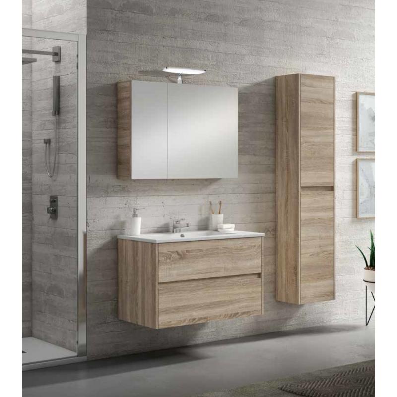 Colonne salle de bain suspendue toronto avec 2 portes - Petit meuble colonne salle de bain ...