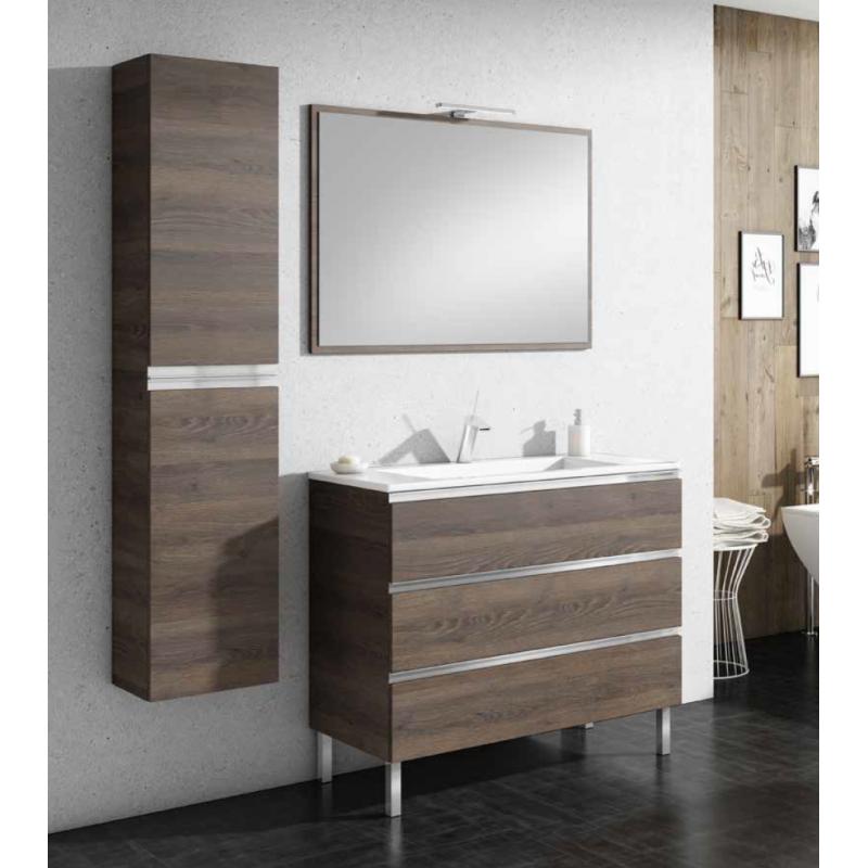 Meuble de salle de bain sur pieds SAMOA 3 tiroirs - Robinet&Co