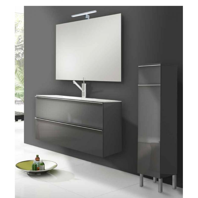 Meuble salle de bain suspendu atenas 2 tiroirs et 1 tiroir - Meuble salle de bain a tiroir ...
