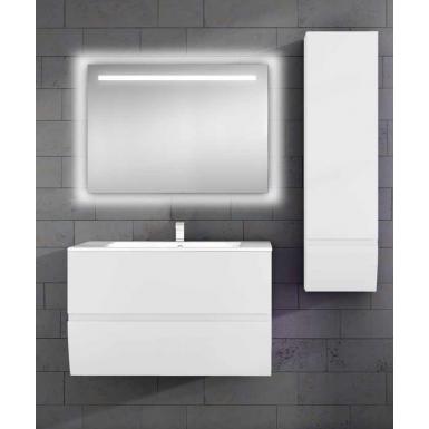 meuble sous vasque suspendu charleston 2 tiroirs laqu uni. Black Bedroom Furniture Sets. Home Design Ideas