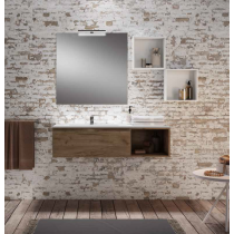 Meuble double vasque salle de bain Alfa 2 tiroirs par Robinet and Co