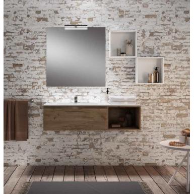 meuble suspendu rio pour vasque d cal e ou poser avec 2 tiroirs ou niche robinet and co. Black Bedroom Furniture Sets. Home Design Ideas