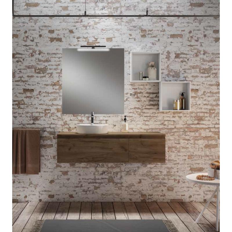 vasque beige salle de bain ... Meuble double vasque salle de bain Alfa 2 tiroirs par Robinet and Co ...