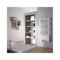 Sèche-serviettes électrique soufflant tubes ronds blancs
