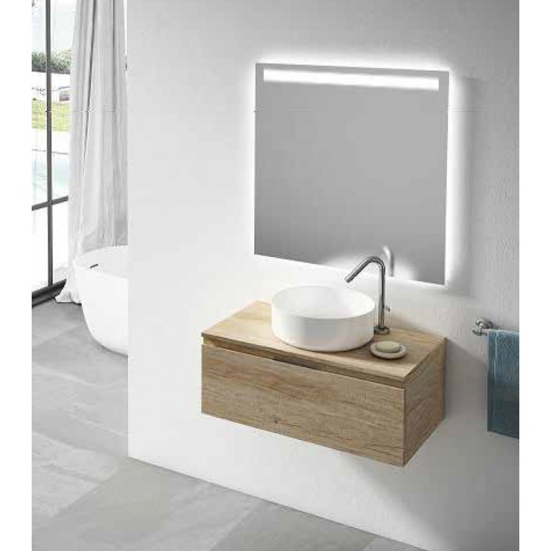 meuble bas rio avec plan de toilette 1 tiroir robinet and co meuble suspendu. Black Bedroom Furniture Sets. Home Design Ideas