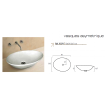 Vasque Céramique à poser ASYMETRIQUE