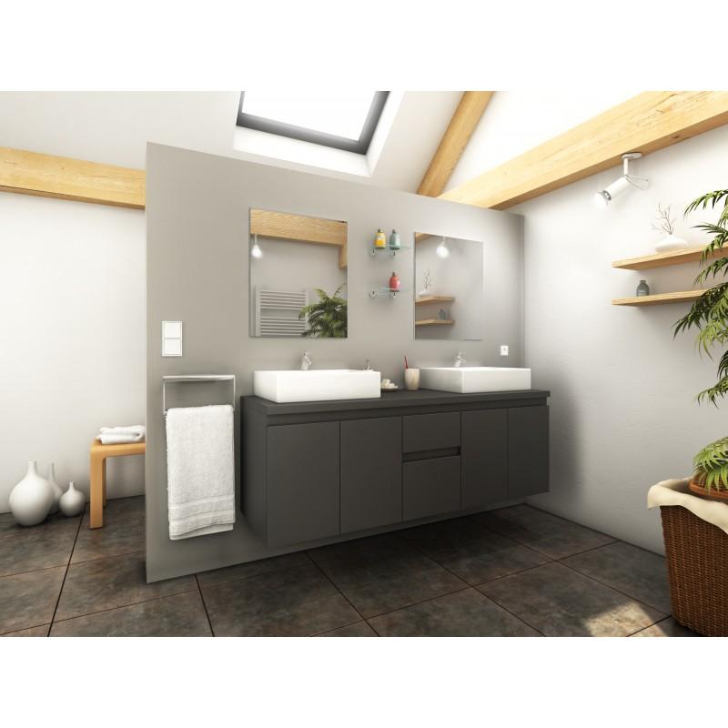 ensemble de salle de bain suspendre cologne longueur 150 cm robinet and co meuble suspendu. Black Bedroom Furniture Sets. Home Design Ideas