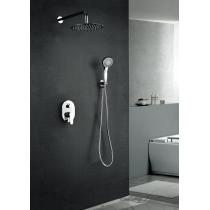 Ensemble douche encastré mural rond avec kit douche OSLO
