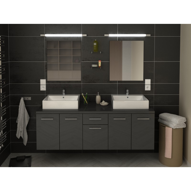 ensemble de salle de bain suspendre orelia longueur 150 cm robinet and co meuble suspendu. Black Bedroom Furniture Sets. Home Design Ideas