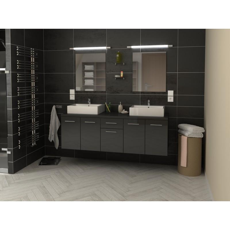 ensemble de salle de bain suspendre orelia longueur 150 cm robinet and co meuble suspendu. Black Bedroom Furniture Sets. Home Design Ideas
