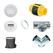 Kit d'accessoires pour vmc double flux Atlantic Duocosy HR en pieuvre