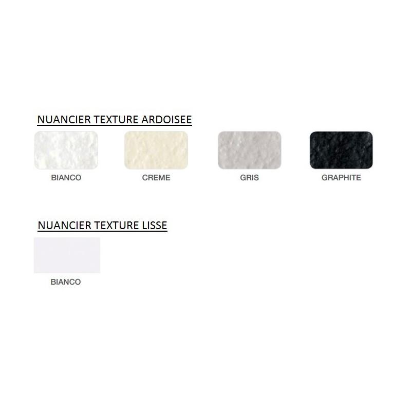 ... Receveur De Douche NATURE Extraplat Hidrobox 90x120 Texture Ardoisé  Couleur Blanc