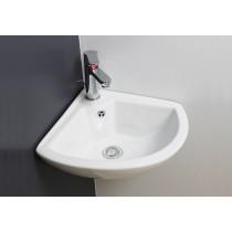 Lave mains d'angle PIVOINE blanc Classique