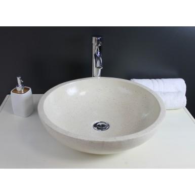 Vasque salle de bain lavabo GELA couleur crème et style moderne