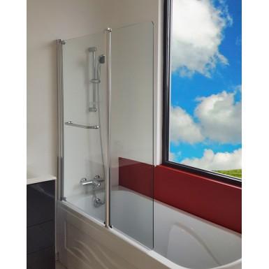 pare baignoire 2 volets sandra transparent classique. Black Bedroom Furniture Sets. Home Design Ideas