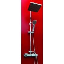Kit barre de douche CELO avec thermostatique Chriomé Classique