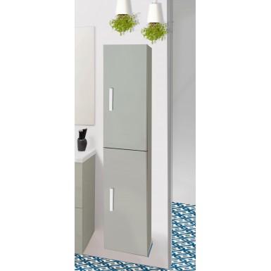 Meuble colonne salle de bain à suspendre NUEVO couleur taupe au style  contemporain