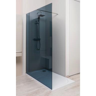 Paroi de douche italienne 120cm 1 VOLET couleur fumée au style moderne