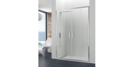 Paroi double coulissante et portes coulissantes de douche