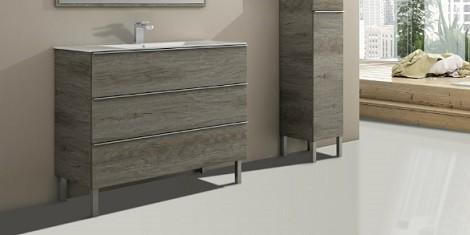 meuble salle de bain sur pieds
